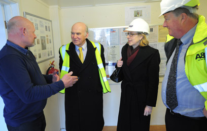 Shield's Marine Division were visited by the Rt Hon Dr Vince Cable