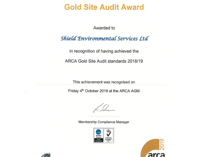 ARCA Gold Site Audit Award